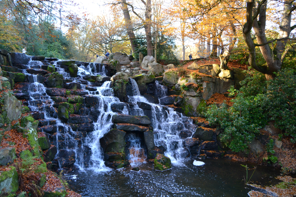 Virginia Water waterfall