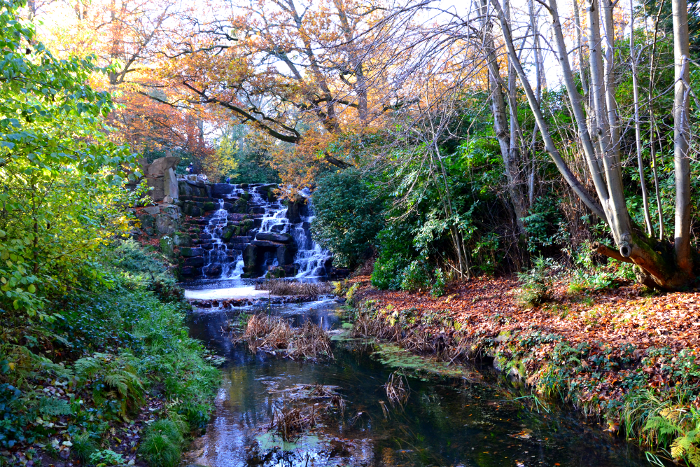 Virginia Water park waterfall